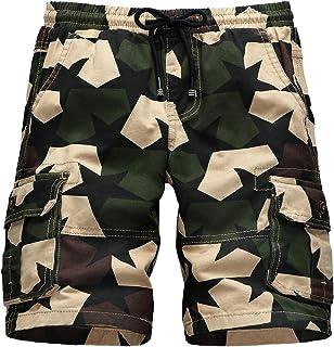 9cb462d98e305e CAMLAKEE Pantaloncini Cargo da Ragazzo Bermuda Bambino Estivi Pantaloni  Corti Mimetici Stampa Militare con Elastico in