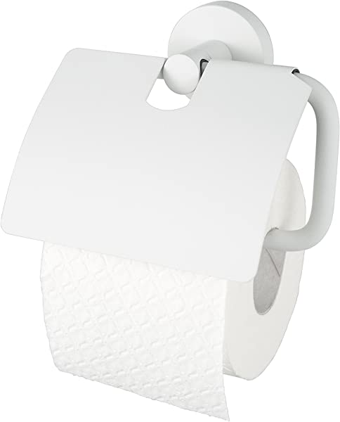 Haceka Kosmos White Toilet Paper Holder With Lid