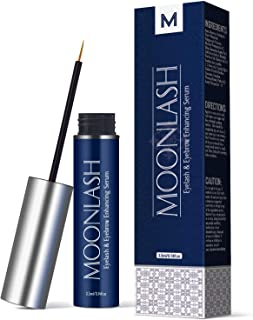 Moonlash Lash & Brow Booster Serum, Eyelash Growth Enhancer & Brow Serum with Biotin & Natural Growth Peptides for Longer, Thicker, Fuller and Healthier Lashes and Eyebrows, No Irritation Formula