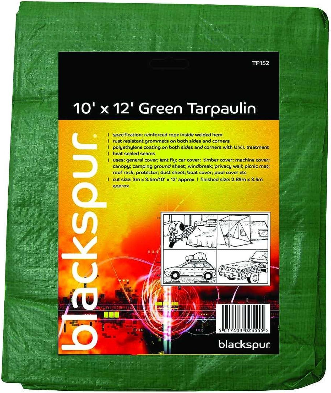 Blackspur 10' X 12' Tarpaulin Green