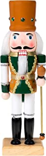 Clever Creations Traditional Wooden King Nutcracker Festive Christmas Decor | 10