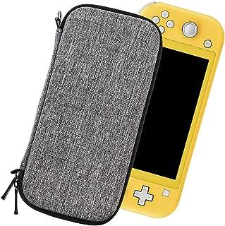 Sisma スリムケース Nintendo Switch Lite 専用のセミハードケース 本体収納ポーチ 本体保護ケース (グレー)