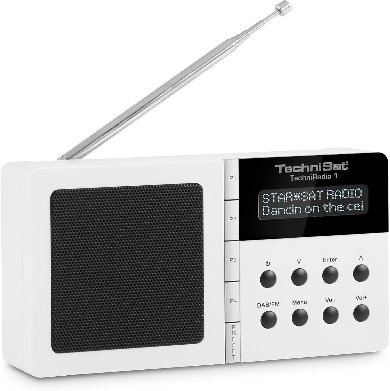 Technisat Techniradio 1 Digitalradio Tragbar Dab Dab Ukw Empfang Wecker Sleeptimer Weiß Heimkino Tv Video