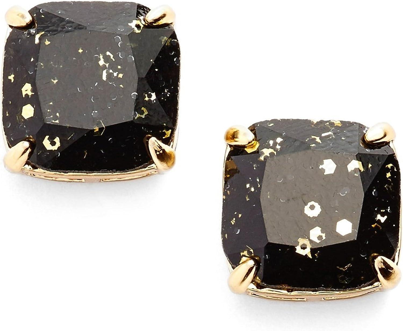 kate spade new york Glitter Stud Earrings BOXED/BLACK GLITTER