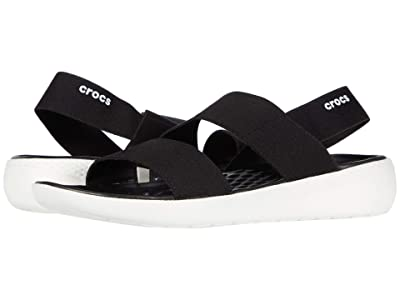 Crocs LiteRide Stretch Sandal (Black/White) Women