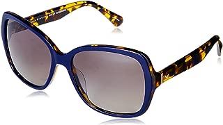Kate Spade Women's Karalyn/s Polarized Square Sunglasses, Blue Havana, 56 mm
