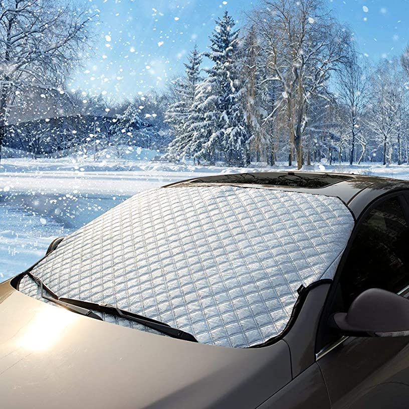 Flylet Car Windshield Snow Cover & Sun Shade Protector - Fits Cars CRVs (1)
