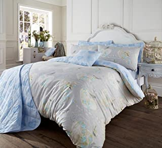 Gaveno Cavailia Luxurious Vintage Style Love Bird Bed Set with Duvet Cover and Pillow Case, Polyester-Cotton, Natural, Single