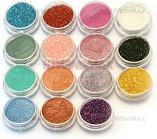 15 Cold Smoked Metals Color Glitter Shimmer Pearl Loose Eyeshadow Pigments Mineral Eye Shadow Dust Powder Makeup Party Cosmetic Set E