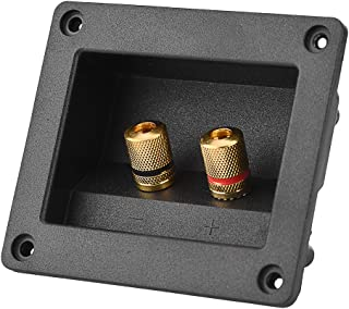 Eboxer Akustische Komponenten für HiFi Lautsprecher 2 Kupfer Binding Post Terminal Kabelanschluss Box Shell Lautsprecherterminal