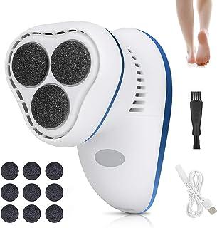 Komake Lima per piedi rimozione della pelle dura per pedicure, dispositivo di rimozione del callo ricaricabile con testine...