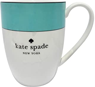 Kate Spade New York by Lenox Rutherford Circle Turquoise Mug 14 Ounce Porcelain