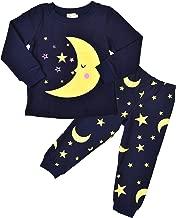 SORREL Boys Pajamas Moon Stars Cotton Sleep Clothes Cartoon Sleepwear Pjs Set Toddler Kid Size 1-5 Years