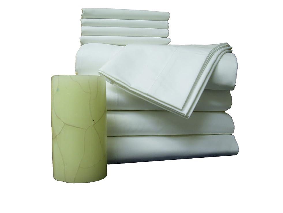 モード胃ホイッスルAtlas 48ピース 枕カバー 標準サイズ ブライトホワイト T180 パーケール ホテルリネン