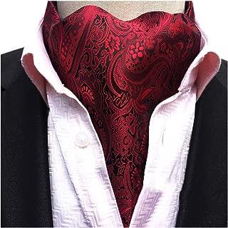 Men's Cravat Self Tie Paisley Jacquard Woven Luxury Ascot