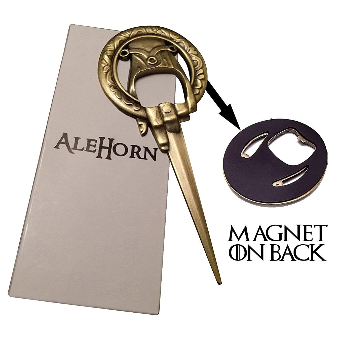 """AleHorn """"Hand of the King"""" Style Bottle Opener– Easily Removes Bottle Caps and Opens Letters – Perfect Gift for Game of Thrones Fans (Hand of the King)"""