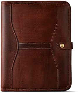 Handmade Genuine Leather Business Portfolio by Jaald | Professional Organizer Men & Women | Durable Leather Padfolio with ...