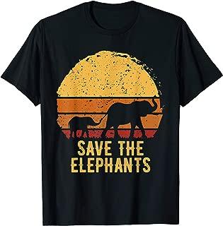 Save The Elephants Animal Lover Gift T-Shirt