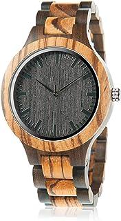 BOBO BIRD ساعت زنانه گورخر چوب آنالوگ کوارتز سبک چوبی دستباف چوبی ورزشی گاه به گاه