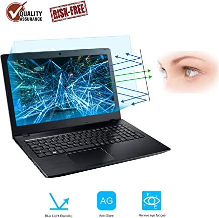2-Pack 15.6 Inch Laptop Screen Protector -Blue Light and Anti Glare Filter, FORITO Eye Protection Blue Light Blocking and Anti Glare Screen Protector for 15.6