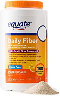 Equate - Fiber Therapy, Smooth Texture, Orange Flavor, Powder, 36.8 oz, Sugar Free 180 Doses