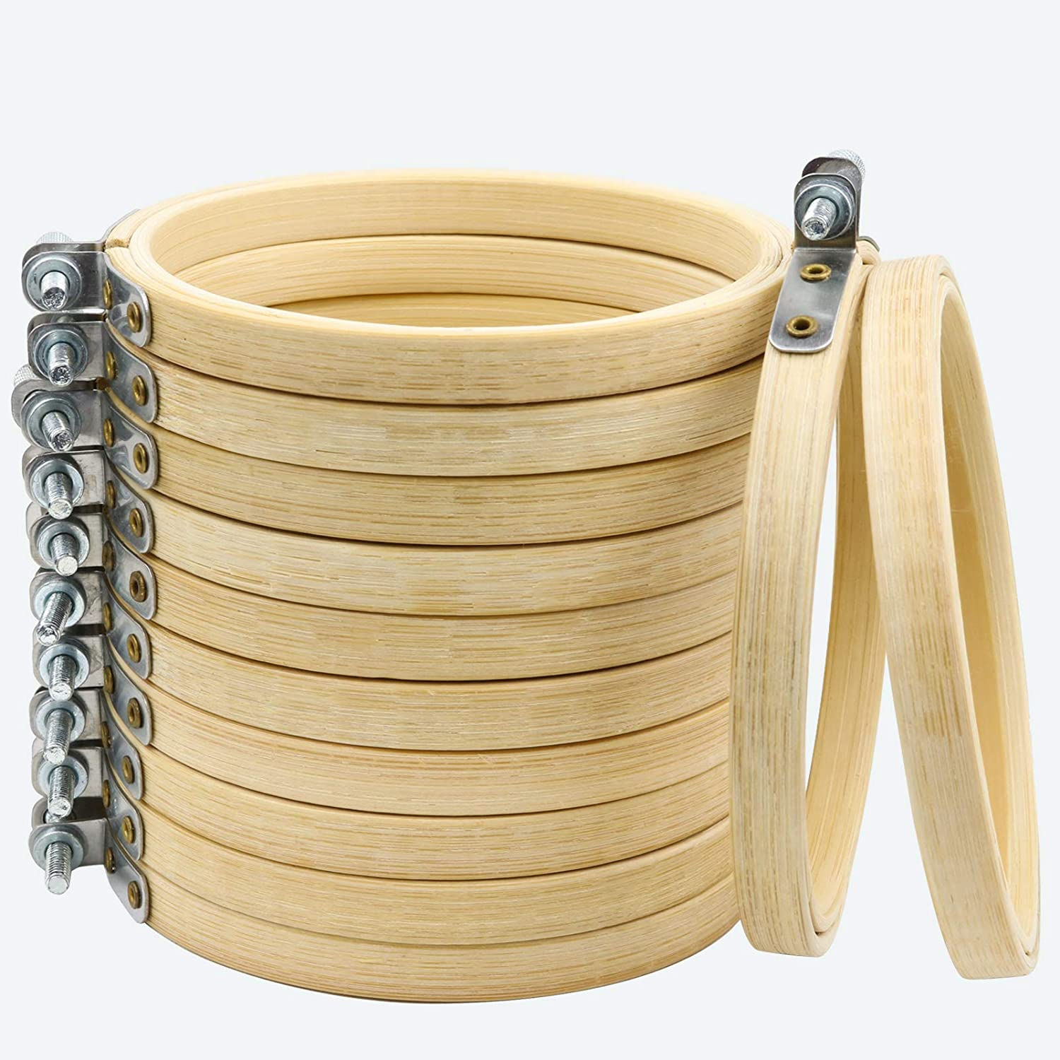 Similane 12 Pieces 4 Inch Embroidery Detroit Mall Sale special price S Cross Bamboo Circle Hoops