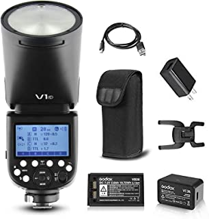 كاميرا دائرية Godox V1-C TTL على الكاميرا مزودة بإضاءة الفلاش متوافقة مع كاميرا كانون