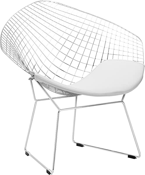 Poly And Bark Morph Lounge Chair In White