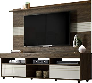 Samba TV Wall Panel Home Entertainment and Media Center Furniture Cabinet with Cable Management System for Televisions Up to 60 Inches (Cocoa)