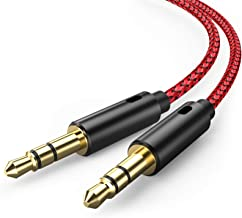 Oldboytech AUX Cable, [2-Pack, 45CM, Hi-Fi Sound Quality] 3.5mm Auxiliary Audio Cable for Car Nylon Braided AUX Cord Compa...