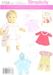 Simplicity 1708 15'' Doll Clothes Sewing Patterns