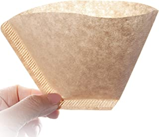 100Pcs Size 2 Special 102 Coffee Filter Paper Disposable Natural Unbleached Original Wooden Drip Paper Suitable for Coffee...