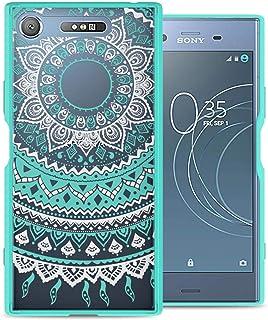 Sony Xperia XZ1 Case Cover, CoverON, Back Panel, Teal Mandala Design