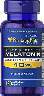 Puritan's Pride Super Strength Rapid Release Capsules Melatonin 10 Mg, 120Count