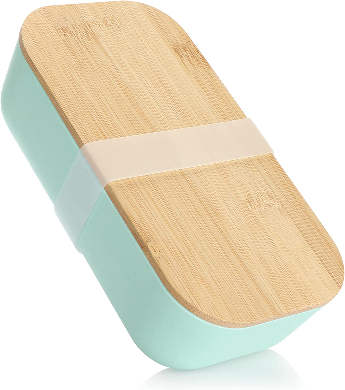 com-four® Fiambrera para Llevar - Fiambrera con Tapa y Cierre de Goma - Caja de Almacenamiento con un diseño Moderno