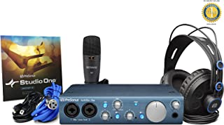 PreSonus Audiobox iTwo Studio Complete Mobile hardware/Software recording kit with 1 Year Free Extended Warranty