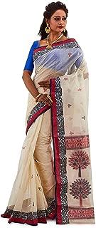 SareesofBengal Women's Handloom Cotton Tangail Bengal Tant Saree