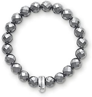 Thomas Sabo X0187-064-11 Women's Charm Bracelet 925 Sterling Silver with Hematite Beads