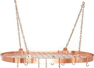 Old Dutch 122CP atin Satin Copper Medium Gauge Oval Pot Rack with Grid & 12 Hooks, 36