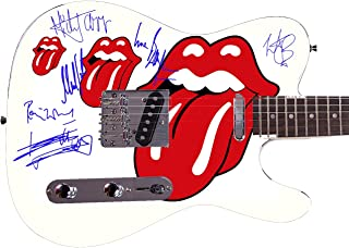 Rolling Stones Autographed Signed Custom Graphics Guitar