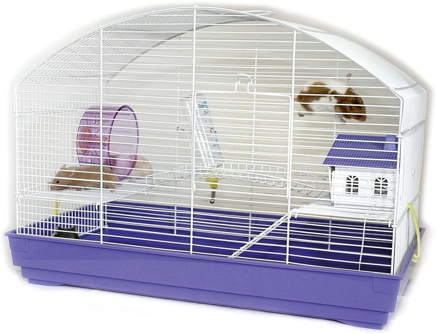 Little Zoo Hayley Hamster Small Animal Cage (Purple)