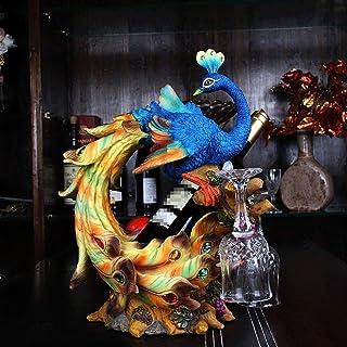 Sculpture de bureau Paon Casier À Vin Décoration Maison Salon Armoire À Vin Décoration Créatif Porte-Tasse De Mariage Cade...