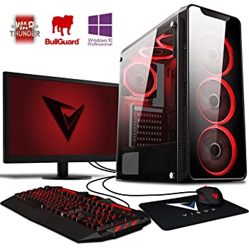 Vibox AX- 10 Gaming PC Ordenador de sobremesa con 2 Juegos Gratis, Windows 10 Pro OS, 22