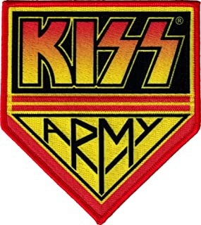 Kiss Army Logo Rock Roll Music Band Embroidered Iron On 4