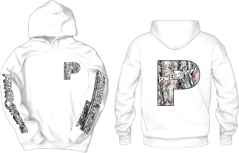Powerstroke Snow Camo Front, Back, Sleeves Logos Hoodie