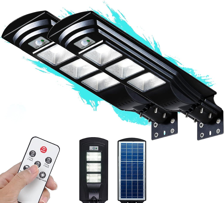 FUHONGRUI 2-Pack 6000LM Solar Dusk to Dawn Motion Sensor Flood Lights $115  Coupon