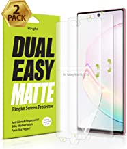 Ringke Dual Easy Matte (2 Pack) Designed for Galaxy Note 10 Screen Protector (2019)