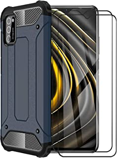 FINEONE® Funda para Xiaomi Poco M3, protección contra Golpes de TPU + PC Resistente a arañazos (Doble Capa) Carcasa para X...