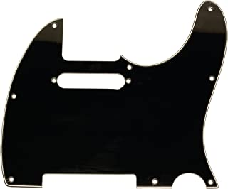 Seismic Audio Black Replacement 3 Ply Style Pickguard for Standard Tele Electric Guitar (SAGA37)