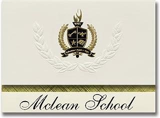 Signature Ankündigungen Mclean Schule (Mclean, TX) Graduation Ankündigungen, Presidential Stil, Elite Paket 25 Stück mit Gold & Schwarz Metallic Folie Dichtung B078VJ846Q  Moderne und stilvolle Mode